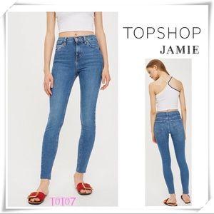 TOPSHOP JAMIE High Rise Cutoff Skinny Jeans